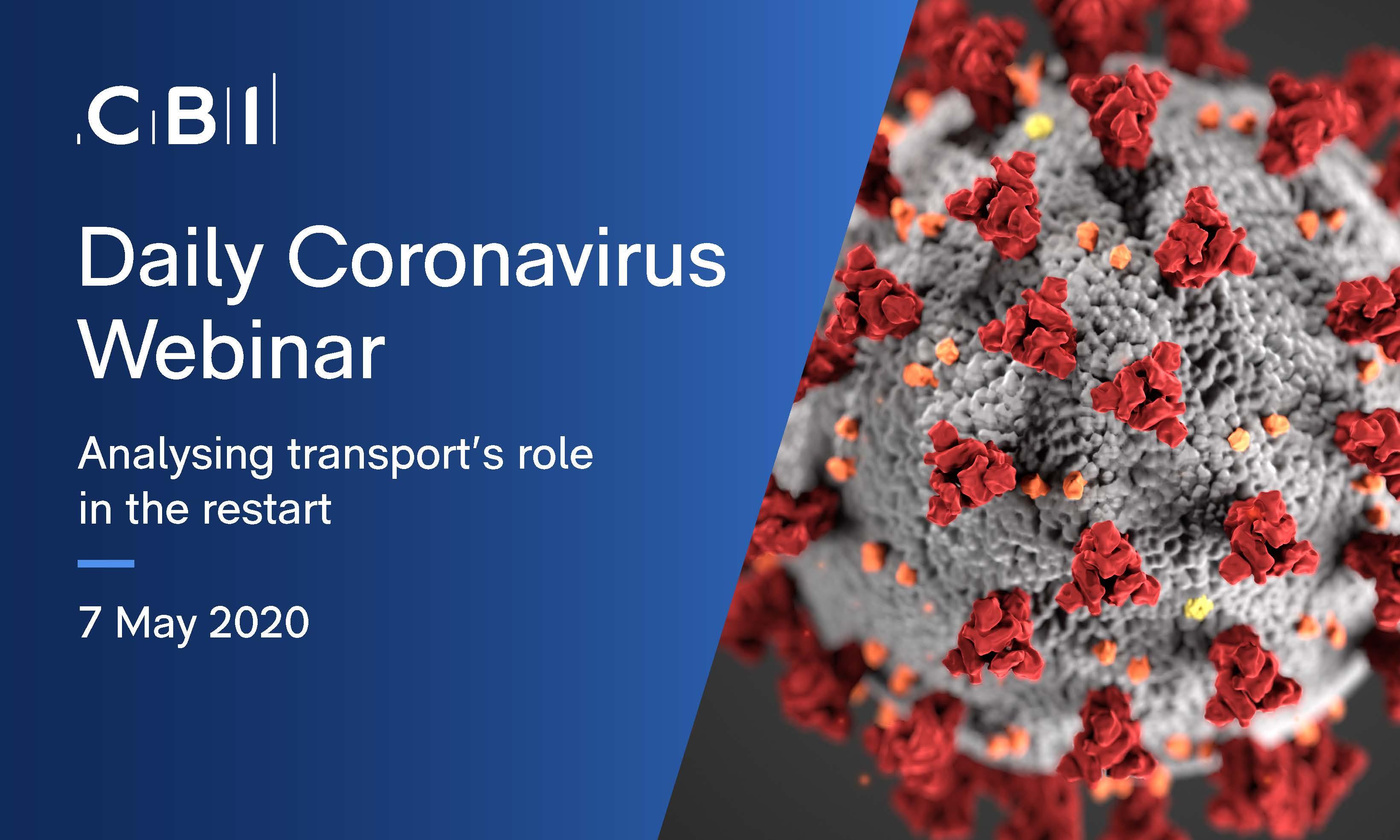 Daily Coronavirus Webinar: Analysing transport's role in the restart